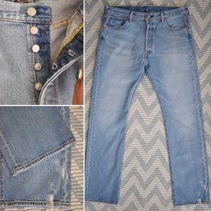 New! Men's Light Wash 501 Jeans
